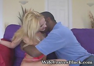 blonde wife interracial blowjob doggy cuckold