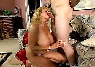 Stiff young boner bashing enormous tits naughty