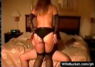 Brunette wife pretends to be a prostitute and